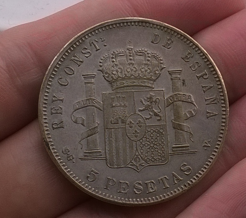 5 pesetas 1899, latón plateado WP_20150308_002
