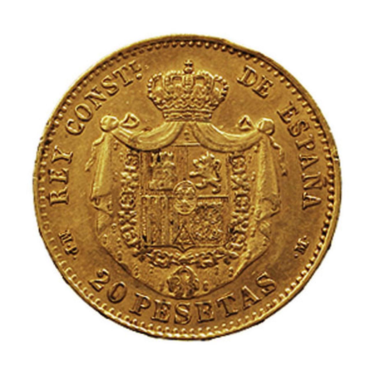 20 Pesetas 1890 (* 18-90). MPM. Alfonso XIII. 16561_b