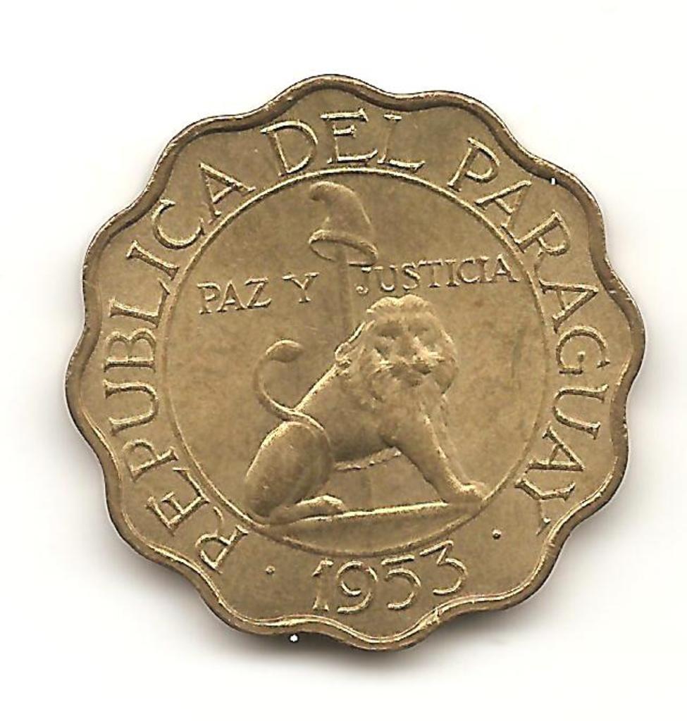 25 centavos de Paraguay año 1953 Image