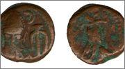 Dracma de bronce de Orodes de Elymais Smg_262