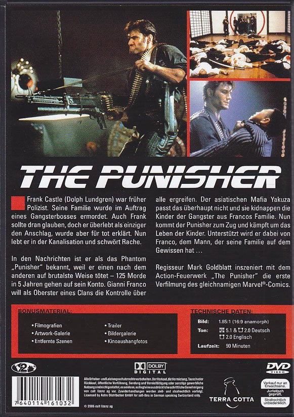 The Punisher (1989) en Bluray Steelbook para UK Cover_2