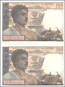 100 Francs Comoros, 1960-63 (P3) Comoros_P3b_100_francs_1963_Pareja_R