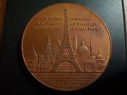 Medalla-recuerdo de la subida a la torre Eiffel de París, 1.889 (1.895) DSCN1892