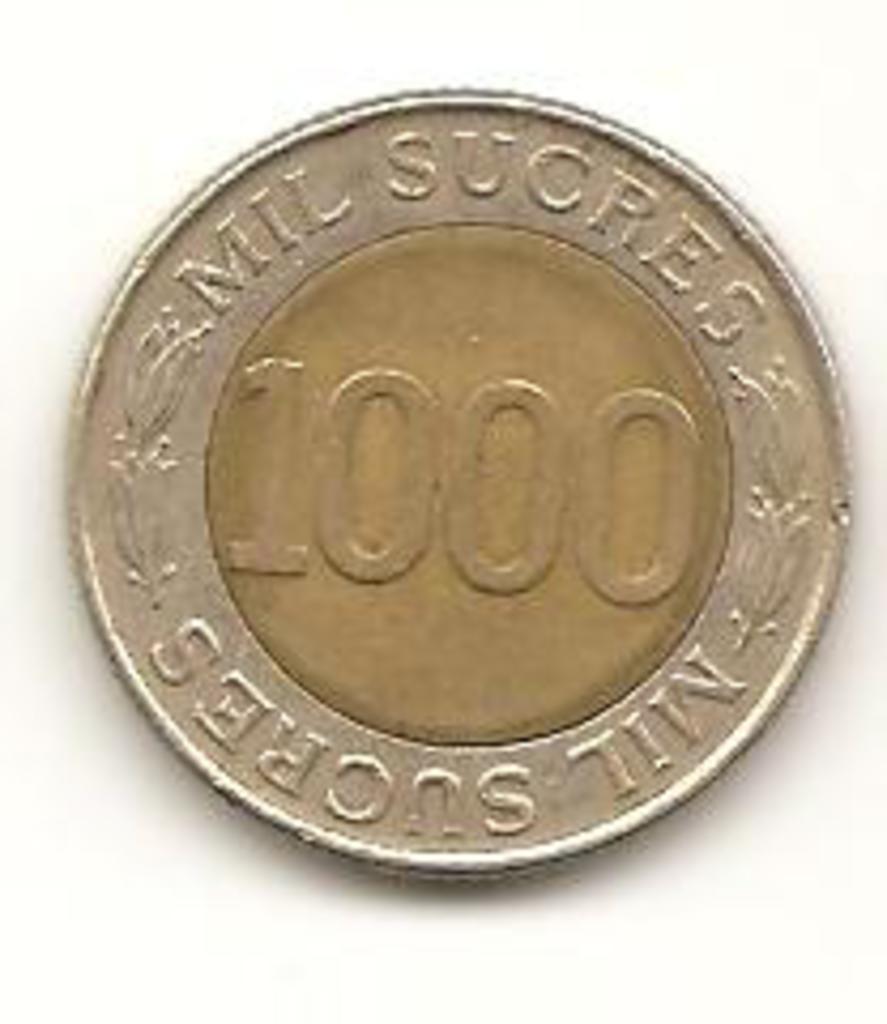 1000 sucre de 1997 Ecuador Image