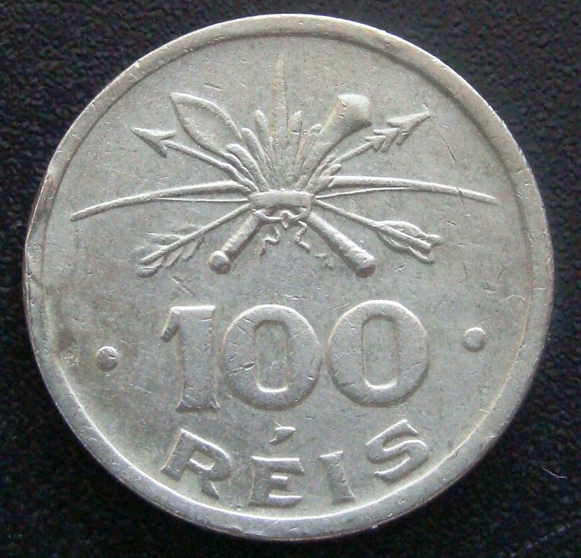 100 Reis. Brasil (1932) 4º centenario de la colonización del Brasil BRA._100_Reis_400_Aniversario_colonizaci_n_-_rev