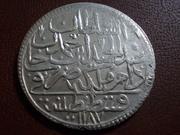 2 Zolotas turcas de Abdul Hamid I  de AH 1.187 + 5º de su sultanato DSCN2337