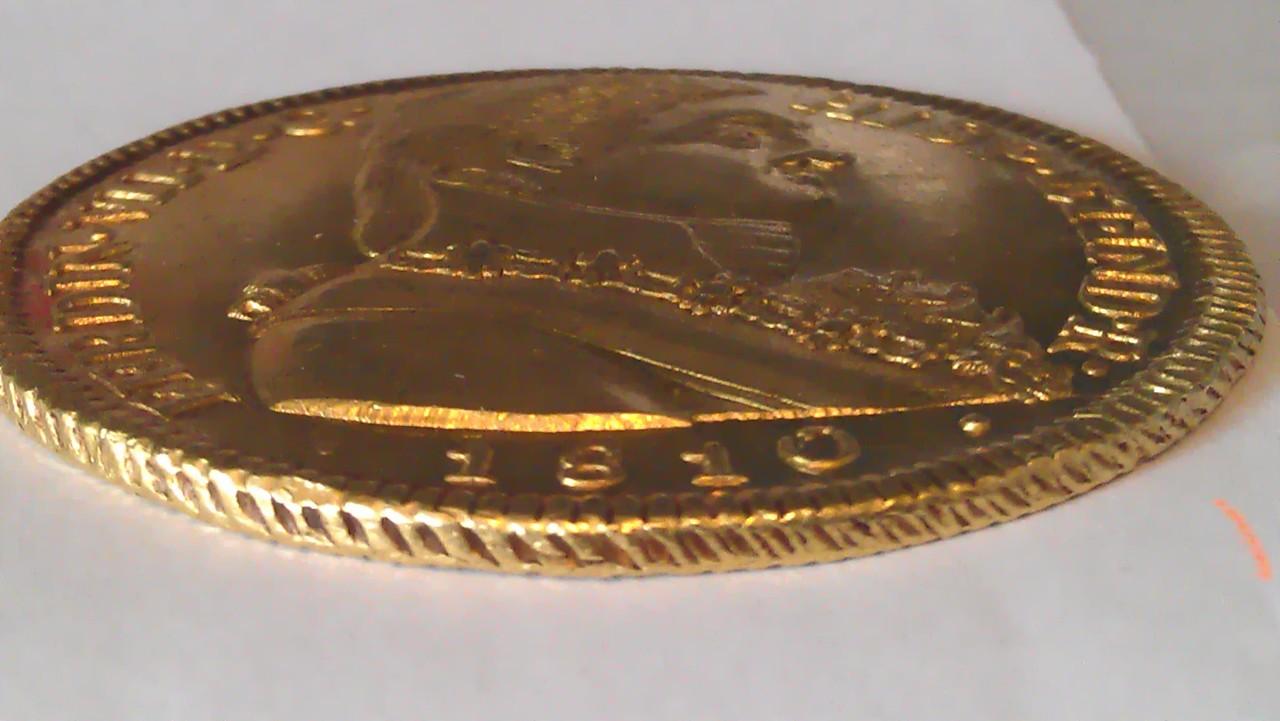"""Onza. 8 escudos Fernando VII 1810 SANTIAGO  """"Variante ceca"""" IMAG1062"""