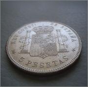 5 pesetas 1898 *18-98 SG-V ALFONSO XIII  Image