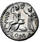 Glosario de monedas romanas. CORONA DE LAUREL O LÁUREA. Image