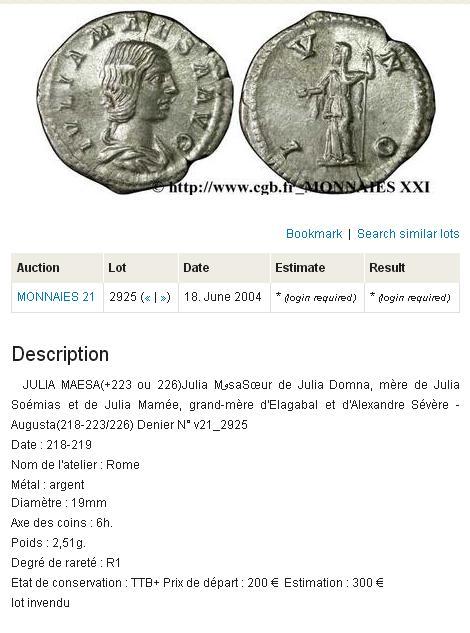 Denario de Julia Maesa. IVNO. Roma. 218 - 219 d. C. Similar_al_mio_02