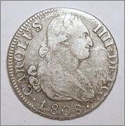 2    reales   Carlos IV   Madrid   1808 35_28
