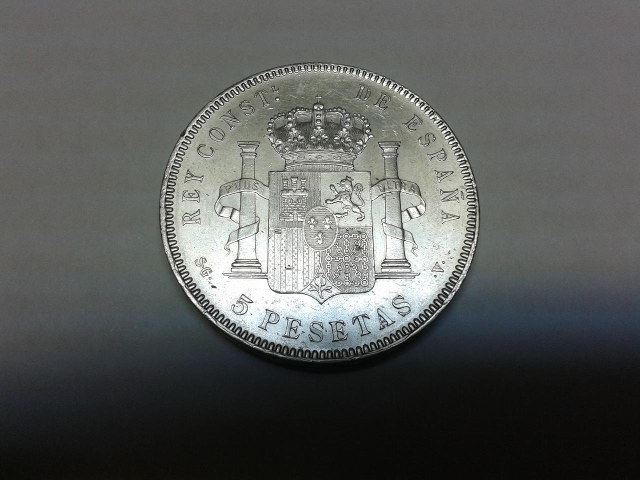 5 pesetas 1899 - Alfonso XIII 20141019_233559
