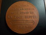 Medalla-recuerdo de la subida a la torre Eiffel de París, 1.889 (1.895) DSCN1894