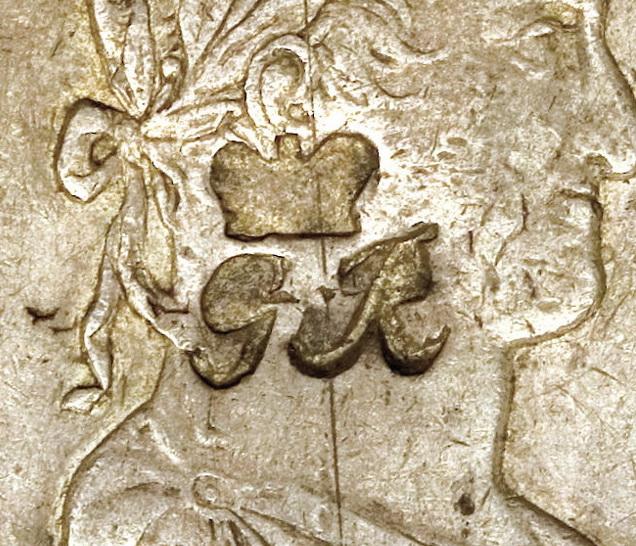 8 reales 1818. Fernando VII. Méjico. Resello GR (Belize) 1816_detalle