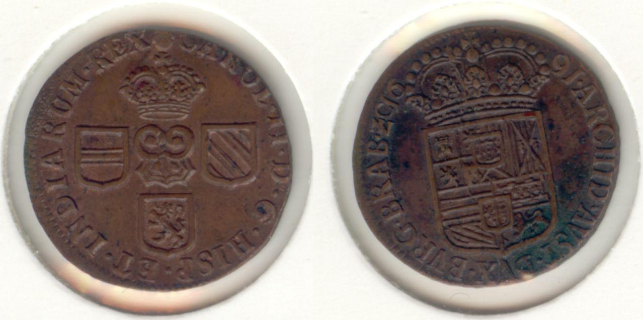 Liard (Oord) 1691. Carlos II. Brabante (Bruselas). Oord_Brabant_1691_600_pixels_25_10_Escudos