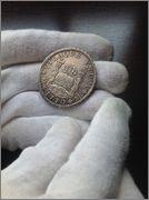 8 reales 1770 columnario. Carlos III, México Image