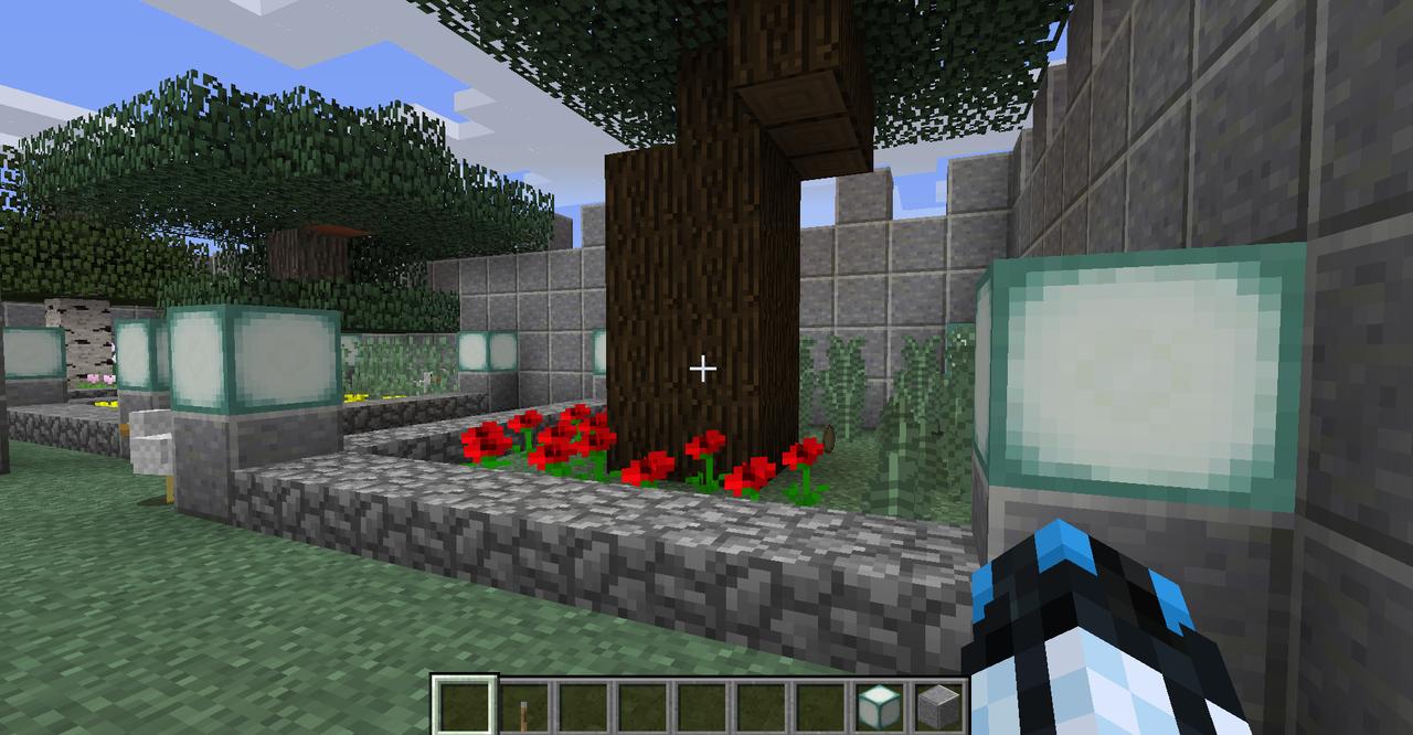 Minecraft Creations Chicken_Yard_Castle_1