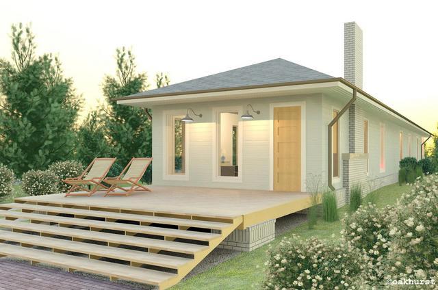 Stavba podle půdorysu Houseplan 1-real_zezadu