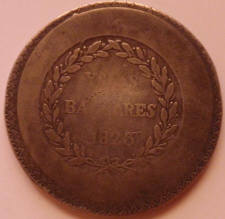 Pasarela de moda numismática Fernandina en Palma: Crónica. 1823_R