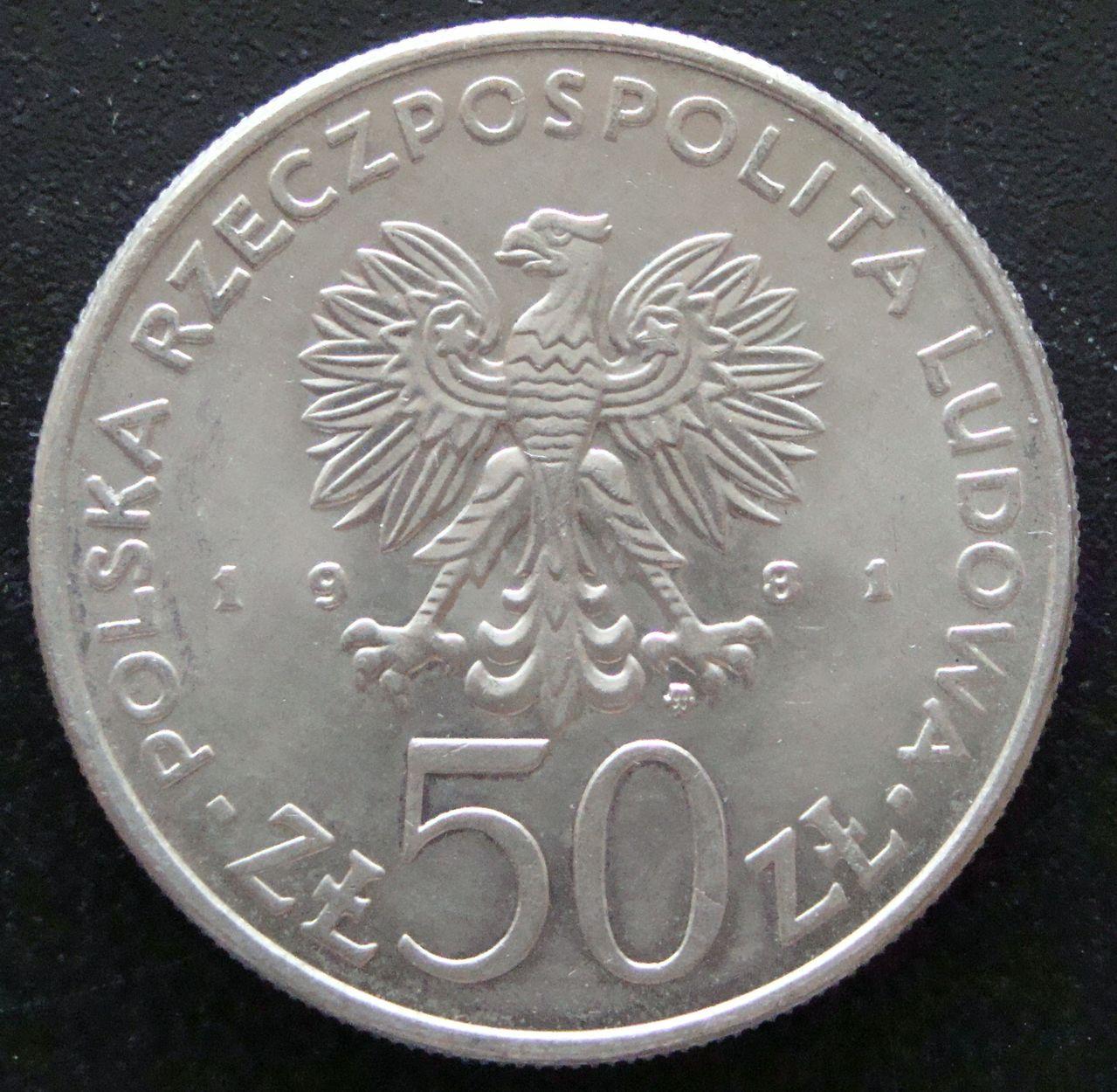 50 Zloty. Polonia (1981) Boleslaw II POL_50_Zloty_Boleslaw_II_Smialy_anv