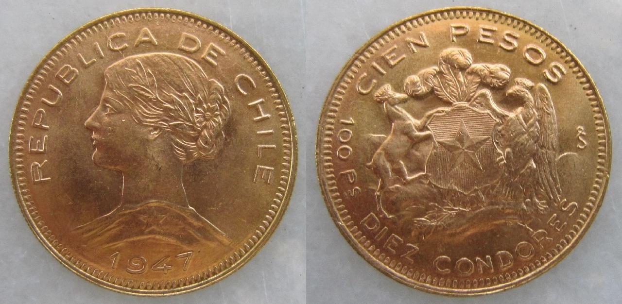 100 pesos (10 cóndores) 1947. Santiago de Chile 100_pesos_Chile_1947