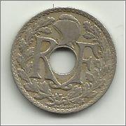 Francia 25 centimos 1918 10_centimes_1918_r