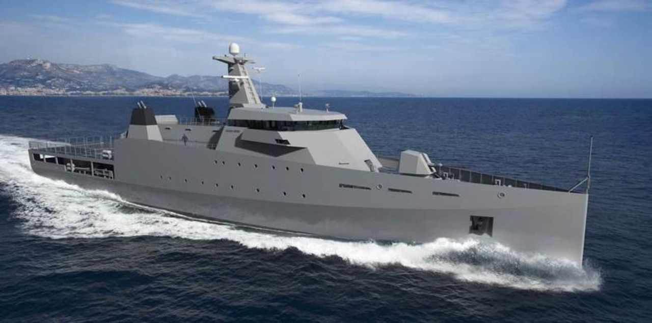 Diseño Damen de 2 generacion para Patrullas Oceanicas y/o Corbetas - Multimodal Offshore_Patrol_Vessel_DAMEN1
