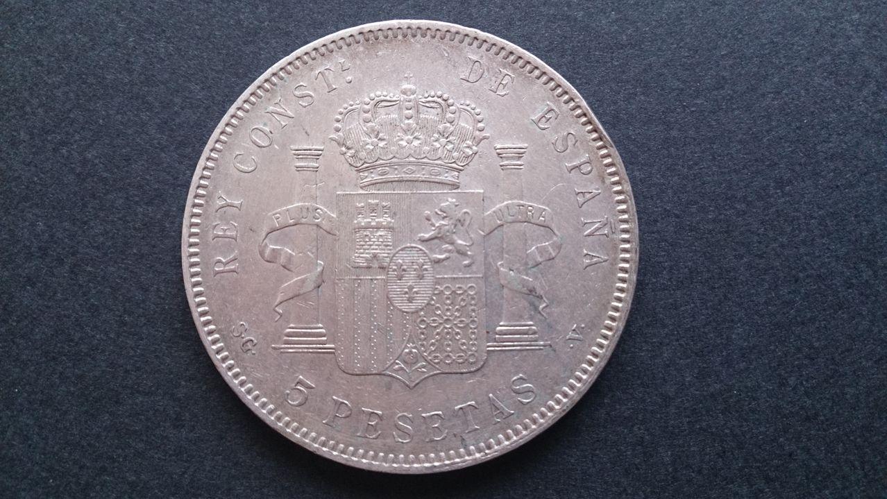 5 pesetas Alfonso XIII 1898 18*98 SGV DSC_0403