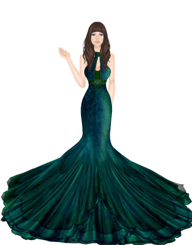 Outfits Outfit_long_flowing_dress_with_desert_makeup_and