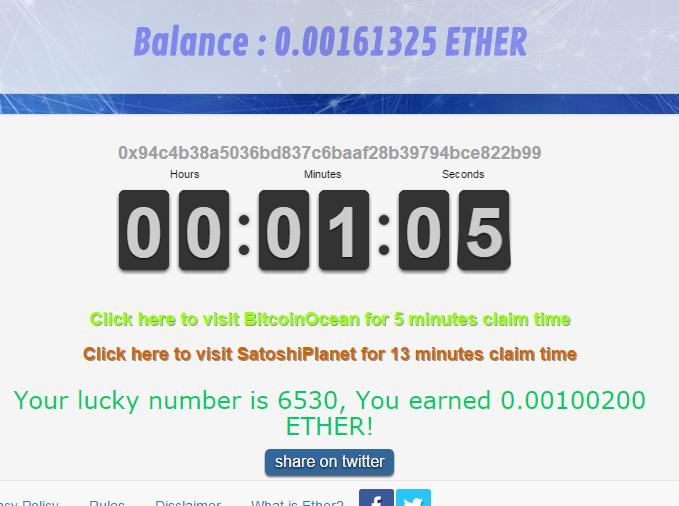[Testar] EtherFaucet - Consiga 600 mil satoshis de bitcoin usando Ethereum! Image