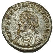 AE3 de Constancio II. PROVIDEN-TIAE CAESS. Puertade de Campamento de dos torres. Cyzicus IMG_0435