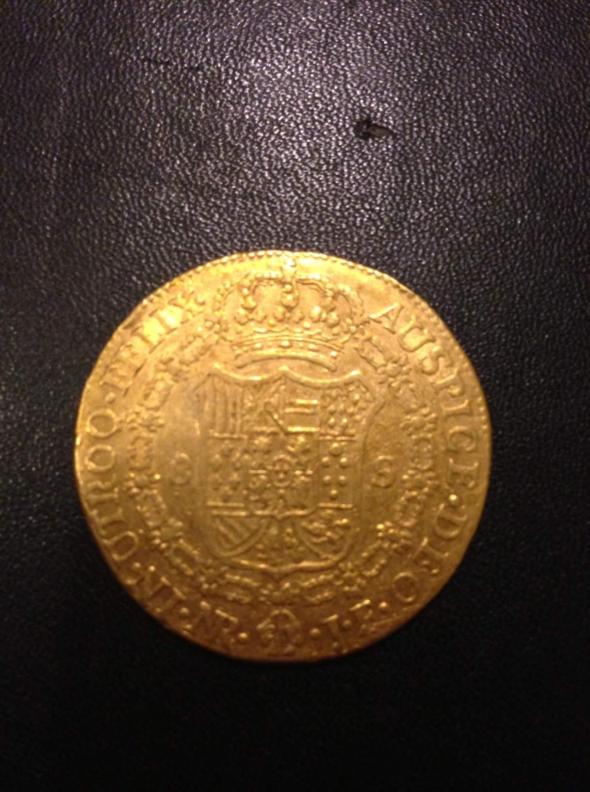 8 Escudos 1811 JF con busto de Carlos IIII. Fernando VII. Santa Fe de Nuevo Reino. Image
