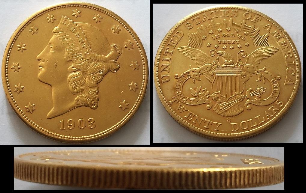 20 dólares 1903 EEUU (*para el concurso de Moneda Extranjera) Image