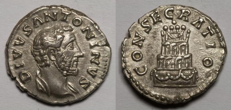 El Emperador Antonino Pío (86-161 d.C.) a través de 4 Denarios Consecratio_AP