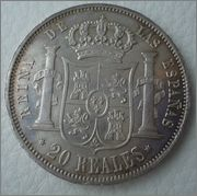 20 Reales 1851 Isabel II - Madrid  Image