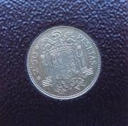 2,50 pesetas 1953 (*19-71). Estado Español. DEDIT LOBO DSC06985