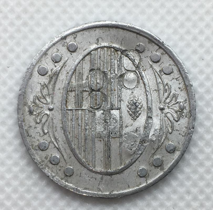 1 peseta 1937 L'Ametlla del Vallés. Guerra Civil. Emisión Local. Resellos 8. 13702433-_F5_B6-444_A-9265-_E7_CA5694_D41_E