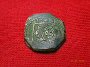 Resello de 8 maravedis de 1641, ceca Madrid, sobre 8 maravedis 1623, ceca Valladolid DSC00071