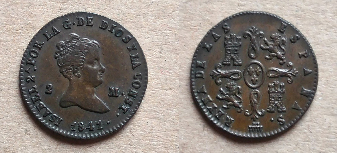 2 maravedís 1841. Isabel II. Segovia Isabel_II_2_Maravedi_s_1841