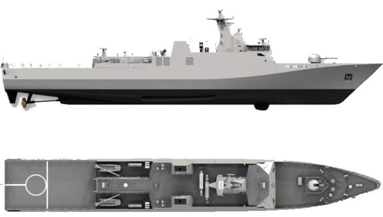 Diseño Damen de 2 generacion para Patrullas Oceanicas y/o Corbetas - Multimodal Sigma_9113_CORBETTE