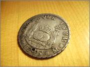 4 reales columnarios de 1735. Felipe V, Mexico SANY4074