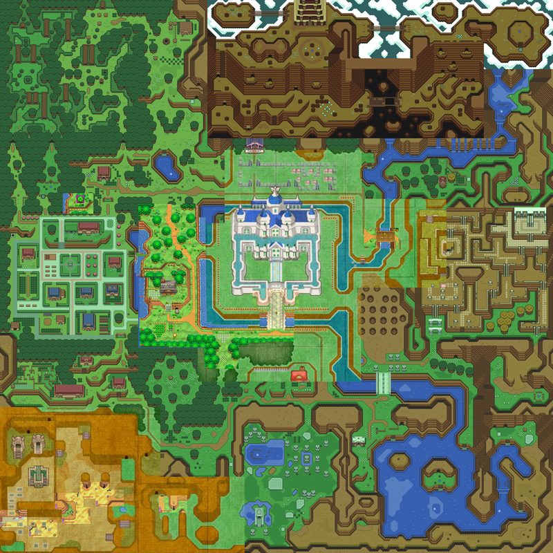 ALBW recreated in ALTTP snes, is there any ??? Map1