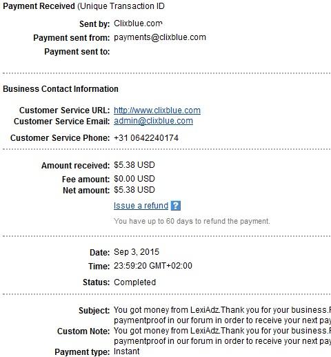 1º Pago de Lexiadz ( $5,38 ) Lexiadzpayment