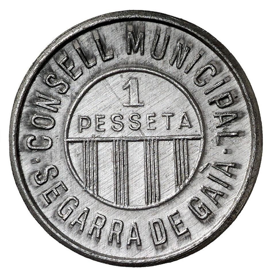 Consejo Municipal de Segarra de Gaià 1_Peseta_Segarra_de_Gaia_aluminio