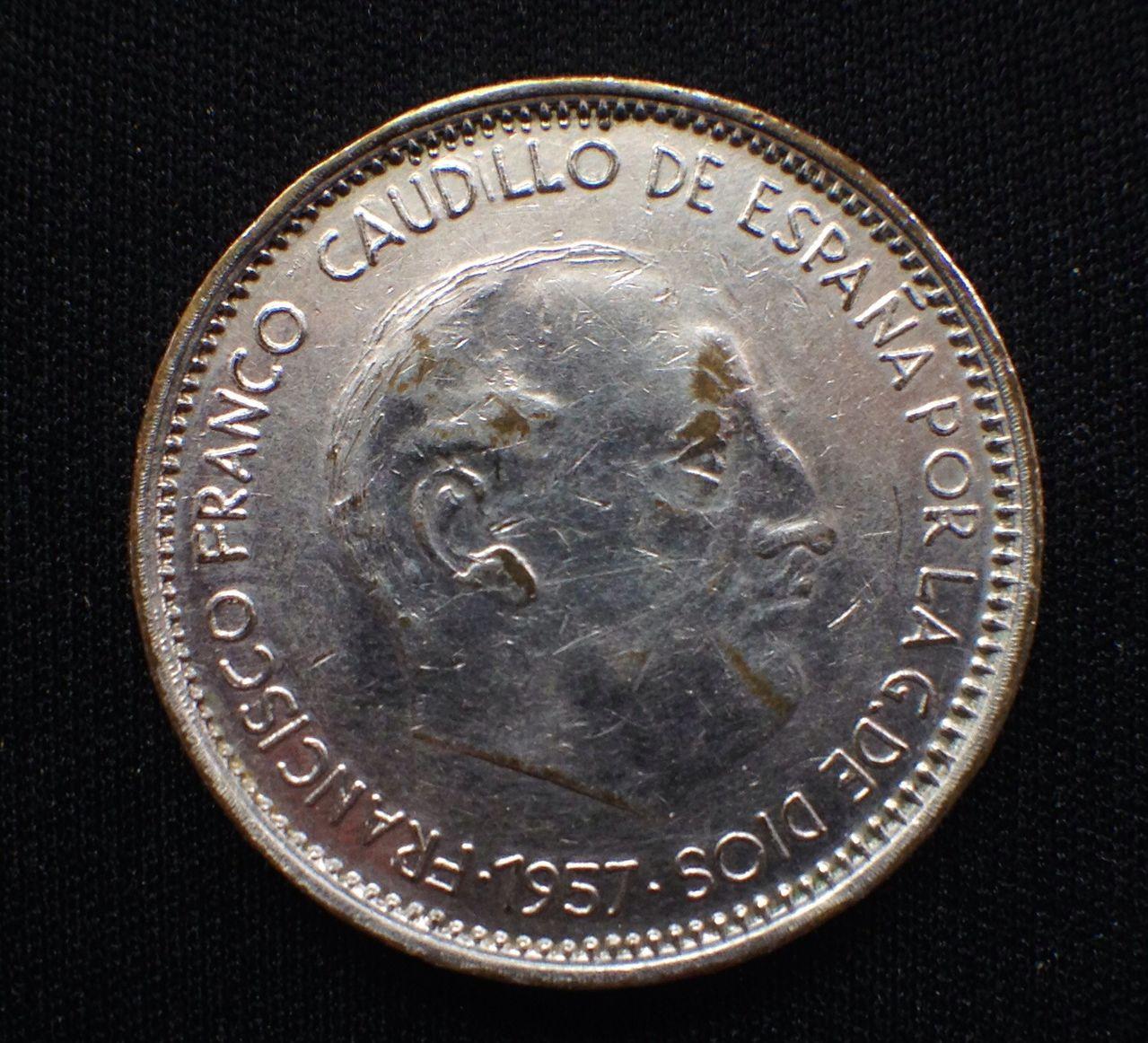50 pesetas 1957*74. Estado español Image