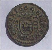 4 maravedis 1664. Felipe IV. Madrid. 102_1211