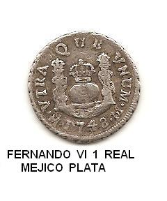 1 real de Fernando VI año 1748 Image
