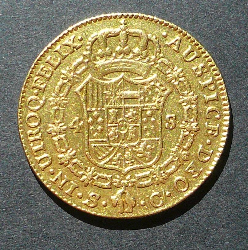 4 Escudos de Carlos III P1010722