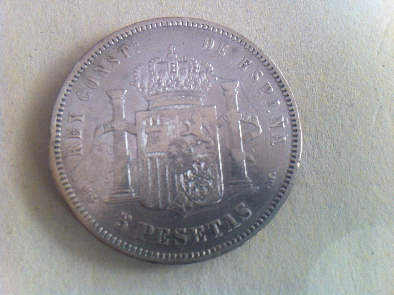 5 pesetas 1881 Alfonso XII,  IMG_3697