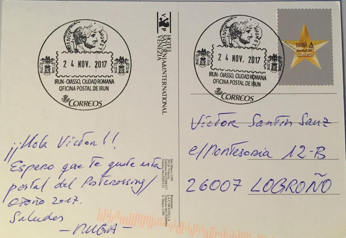 Intercambio postalero - POSTCROSSING OTOÑO 2017 / EL DESVAN - Página 2 IMG_4064